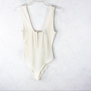 [F21] Classic Off White Body Suit
